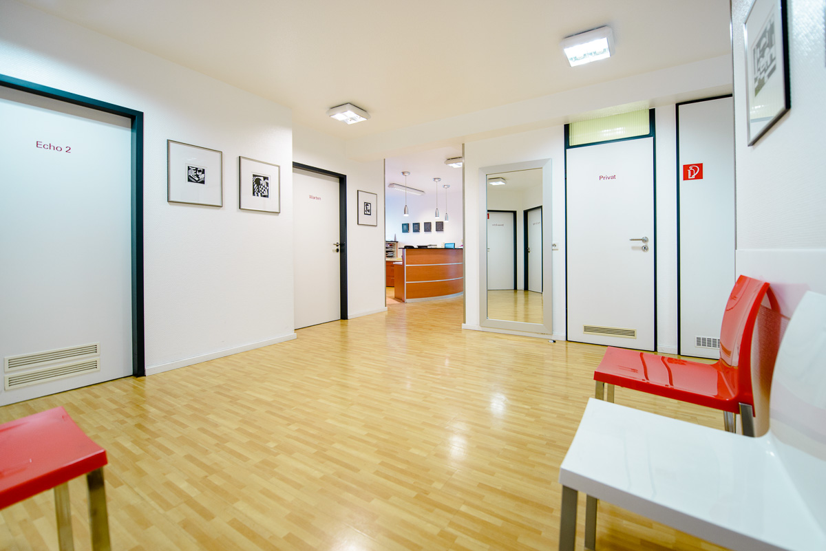 Räume der Praxis für Kardiologie in Köln